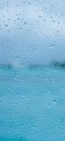 向こうが透けている水色のガラス iPhone 11 Pro Max スマホ壁紙・待ち受け
