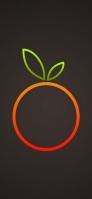 オレンジと緑のミカンのアイコン iPhone 11 Pro Max スマホ壁紙・待ち受け