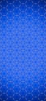 青い六角形 iPhone 11 Pro Max スマホ壁紙・待ち受け