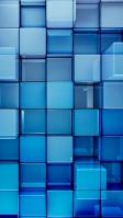 立体感のある青い四角 iPhone SE (第2世代) スマホ壁紙・待ち受け