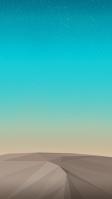綺麗な青空とポリゴンの大地 iPhone SE (第2世代) スマホ壁紙・待ち受け