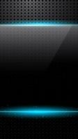 硬質な黒のメタル 水色の光るライン iPhone SE (第2世代) スマホ壁紙・待ち受け
