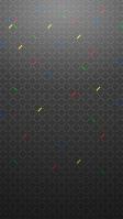 赤・青・黄色・緑のアクセント 黒の背景 iPhone SE (第2世代) スマホ壁紙・待ち受け
