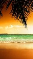 グアムの綺麗な海 夕暮れ iPhone SE (第2世代) スマホ壁紙・待ち受け