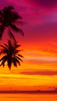 グラデーションの夕焼け 赤い景色 iPhone SE (第2世代) スマホ壁紙・待ち受け