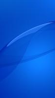 綺麗な青い背景と帯 iPhone SE (第2世代) スマホ壁紙・待ち受け
