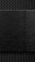 無数の穴 硬いメタリックな金属 黒 iPhone SE (第2世代) スマホ壁紙・待ち受け