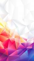 美麗なカラーリングのポリゴン iPhone SE (第2世代) スマホ壁紙・待ち受け
