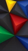 カラフル モダン 三角のポリゴン iPhone SE (第2世代) スマホ壁紙・待ち受け