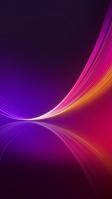 綺麗な紫の背景・ピンクと黄色の線 iPhone SE (第2世代) スマホ壁紙・待ち受け