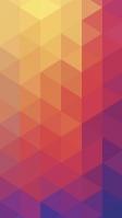 黄・赤・紫 トライアングル グラデーションの背景 iPhone SE (第2世代) スマホ壁紙・待ち受け