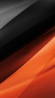 オレンジと黒のモダンなテクスチャー iPhone SE (第2世代) スマホ壁紙・待ち受け