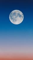 綺麗な満月 グラデーションの空 iPhone SE (第2世代) スマホ壁紙・待ち受け