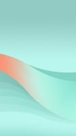 薄い緑とオレンジのグラデーションの帯 iPhone SE (第2世代) スマホ壁紙・待ち受け