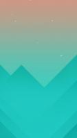 緑とオレンジのグラデーション 山と星のイラスト iPhone SE (第2世代) スマホ壁紙・待ち受け