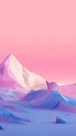 ポリゴン CG 氷山 iPhone SE (第2世代) スマホ壁紙・待ち受け