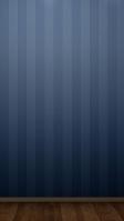 お洒落な青のボーダー柄の壁と木の床 iPhone SE (第2世代) スマホ壁紙・待ち受け