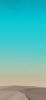 綺麗な夜空と砂漠のポリゴン iPhone 11の壁紙・待ち受け