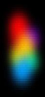 極彩色のドットパターン iPhone 11 スマホ壁紙・待ち受け