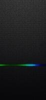 かっこいい黒い背景 青く光るライン iPhone 11 スマホ壁紙・待ち受け