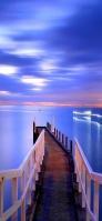 桟橋と海とフェリー iPhone 11 スマホ壁紙・待ち受け