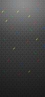 黒いひし形 赤・黄・緑・青 iPhone 11 スマホ壁紙・待ち受け