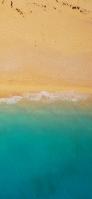 砂浜と波 iPhone 11 スマホ壁紙・待ち受け