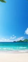 ハワイの海と砂浜 iPhone 11 スマホ壁紙・待ち受け