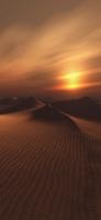 夕暮れのゴビ砂漠 iPhone 11 スマホ壁紙・待ち受け