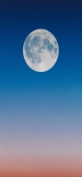 満月とグラデーションの空 iPhone 11 スマホ壁紙・待ち受け