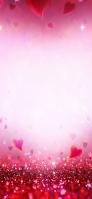 ピンク 小さなハートのテクスチャー iPhone 11 スマホ壁紙・待ち受け
