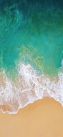上から見た浜辺 iPhone 11 スマホ壁紙・待ち受け