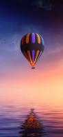 海 気球 カモメ iPhone 11 スマホ壁紙・待ち受け