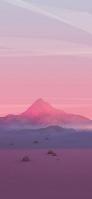 ポリゴンの山と風景 iPhone 11 スマホ壁紙・待ち受け