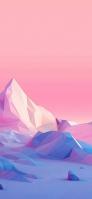 ピンク ポリゴン 綺麗な土地 iPhone 11 スマホ壁紙・待ち受け