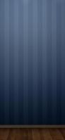 高級感のある青い壁とウッドフロアー iPhone 11 スマホ壁紙・待ち受け