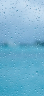 雨の日 ガラス iPhone 11 スマホ壁紙・待ち受け