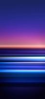 綺麗な青と紫の横のボーダー OPPO Reno A Android スマホ壁紙・待ち受け