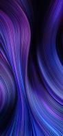 紫・青のうねるような曲線 OPPO Reno A Android スマホ壁紙・待ち受け
