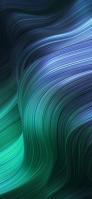 綺麗な青と緑のうねるような曲線 Google Pixel 5 Android 壁紙・待ち受け
