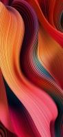 綺麗な赤とオレンジのうねるような曲線 Google Pixel 5 Android 壁紙・待ち受け