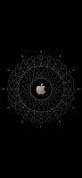 黒・金のアップルのロゴ iPhone 12 スマホ壁紙・待ち受け