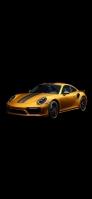 かっこいい黄色いスポーツカー iPhone 12 スマホ壁紙・待ち受け