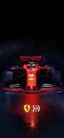 F1 赤いフェラーリ iPhone 11 Pro スマホ壁紙・待ち受け