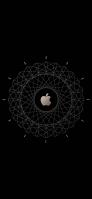 黒のアップルのロゴとアブストラクト Redmi 9T Androidスマホ壁紙・待ち受け