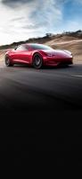 疾走する赤い車 OPPO Reno A Androidスマホ壁紙・待ち受け