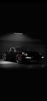 駐車場 かっこいい黒いスポーツカー OPPO Reno A Androidスマホ壁紙・待ち受け