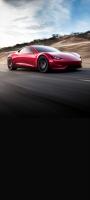 疾走するかっこいい赤いスポーツカー Galaxy A32 5G 壁紙・待ち受け