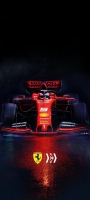 かっこいい赤いフェラーリ F1 OPPO Reno5 A Androidスマホ壁紙・待ち受け