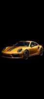 かっこいい黒・金色のスポーツカー OPPO Reno5 A Androidスマホ壁紙・待ち受け